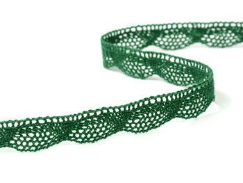 Paličkovaná krajka vzor 75629 tmavě zelená   30 m - 2