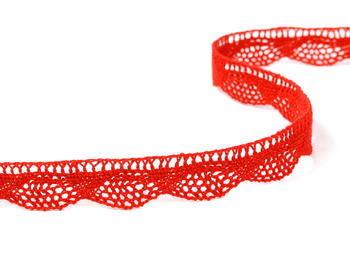 Paličkovaná krajka vzor 75629 červená | 30 m - 2
