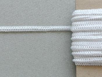 Paličkovaná pruženka roušková 75643 bílá | 10 m - 2