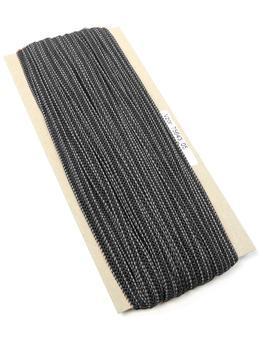 Fine rubber band  75643 dark grey | 10 m - 2