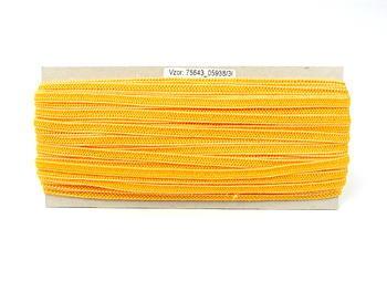 Paličkovaná pruženka roušková 75643 žlutá | 30 m - 2