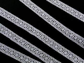 Paličkovaná vsadka vzor 81031 bílá | 30 m - 2
