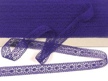 Paličkovaná vsadka vzor 81031 purpurová | 30 m - 2