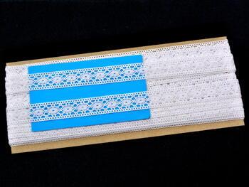 Paličkovaná vsadka vzor 81040 bílá | 30 m - 2