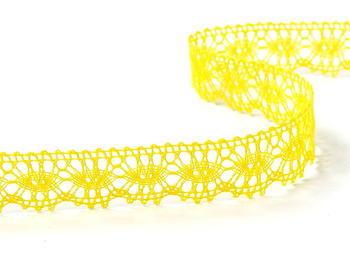 Paličkovaná krajka vzor 81050 žlutá | 30 m - 2