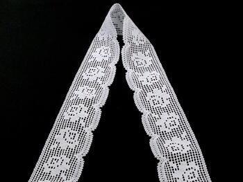 Paličkovaná krajka vzor 81076 bílá | 30 m - 2