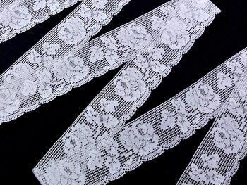 Paličkovaná krajka vzor 81094 bílá | 30 m - 2