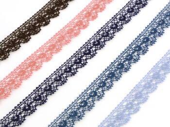 Paličkovaná krajka vzor 81128 mořská modrá | 30 m - 2