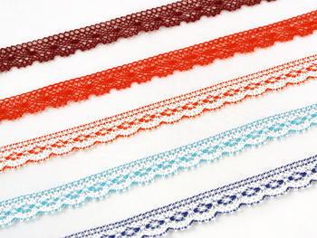 Bobbin lace No. 81215 white/turquoise | 30 m - 2