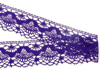 Paličkovaná krajka vzor 81289 purpurová | 30 m - 2