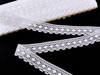 Bobbin lace No. 81297 white | 30 m - 2