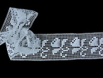Paličkovaná vsadka vzor 81408 bílá | 30 m - 2
