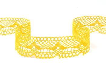 Paličkovaná krajka vzor 81847 tmavě žlutá | 30 m - 2