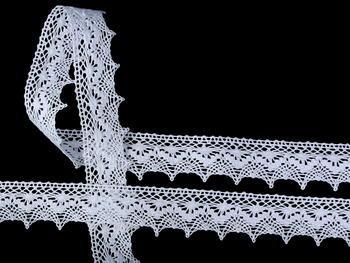 Paličkovaná krajka vzor 82158 bílá   30 m - 2