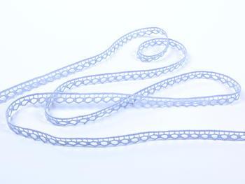 Paličkovaná krajka vzor 82195 světle modrá | 30 m - 2