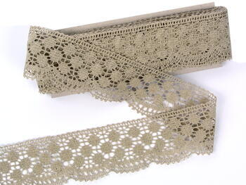 Bobbin lace No. 82220 natural  linen | 30 m - 2