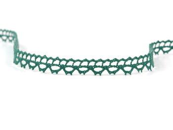 Paličkovaná krajka vzor 82226 tmavě zelená | 30 m - 2
