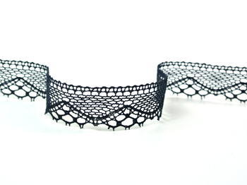 Bobbin lace No. 82238 black | 30 m - 2
