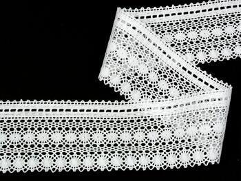 Paličkovaná krajka vzor 82240 bílá | 30 m - 2