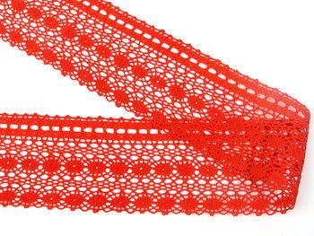 Paličkovaná krajka vzor 82240 červená | 30 m - 2