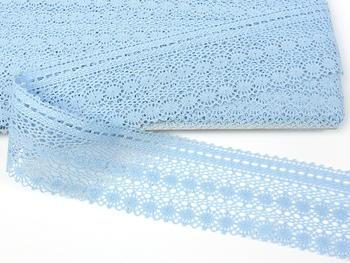 Paličkovaná krajka vzor 82240 světle modrá II. | 30 m - 2