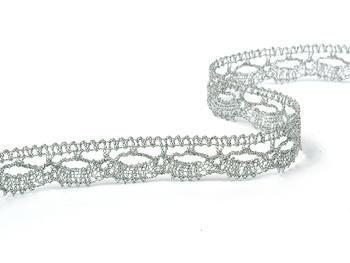 Bobbin lace No. 82307 silver | 30 m - 2