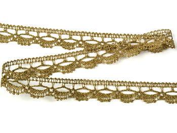 Paličkovaná krajka vzor 82307 zlatá antik | 30 m - 2