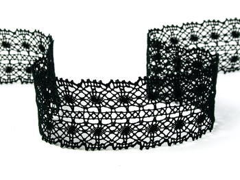 Bobbin lace No.  82309 black | 30 m - 2