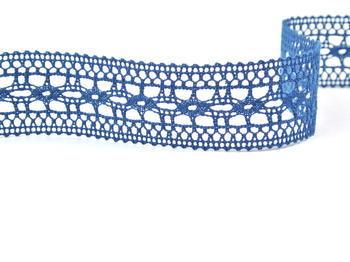 Paličkovaná vsadka vzor 82313 mořská modrá | 30 m - 2