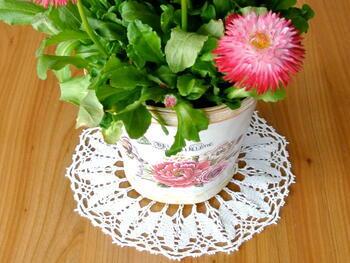 Tablecloth EMILIE white, diameter 17 cm - 2