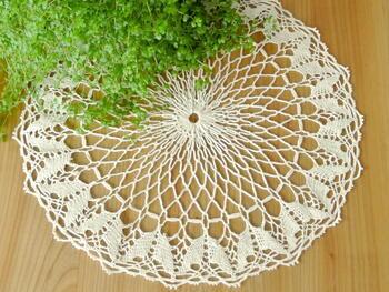 Tablecloth EMILIE 111 0051 ecru, diameter 34 cm - 2