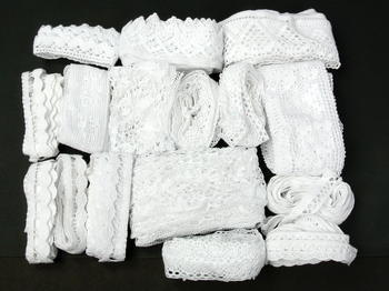 Hobby bag - bobbin laces white| 200 g - 3