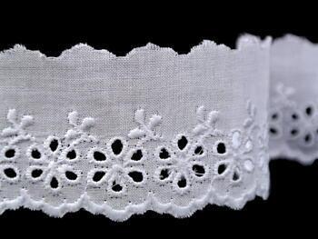 Embroidery lace No. 65015 white | 9,2 m - 3