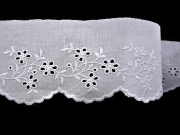 Embroidery lace No. 65023 white | 9,2 m - 3