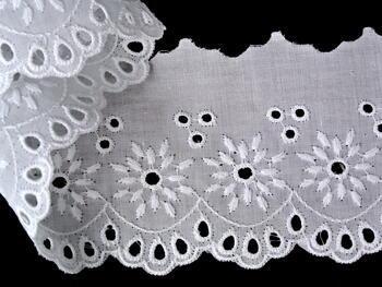 Vyšívaná krajka vzor 65024 bílá | 9,2 m - 3