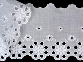 Embroidery lace No. 65032 white | 14,4 m - 3
