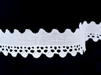 Embroidery lace No.  65090 white | 9,2 m - 3