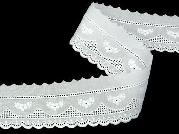 Embroidery lace No. 65115 white | 13,8 m - 3