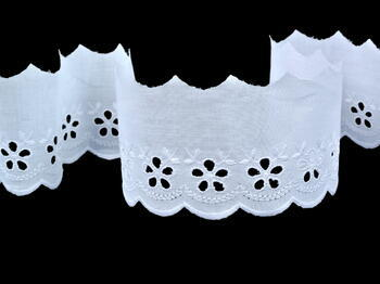 Embroidery lace No. 65001 white | 9,2 m - 3
