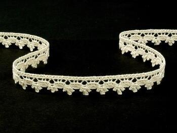 Cotton bobbin lace 73010, width 13 mm, ecru - 3