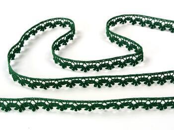 Cotton bobbin lace 73010, width 13 mm, dark green - 3
