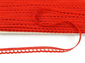 Paličkovaná krajka vzor 73012 červená | 30 m - 3