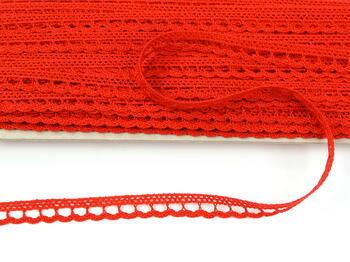 Paličkovaná krajka 73012 bavlněná, šířka10mm, červená - 3