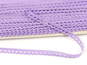 Paličkovaná krajka 73012 bavlněná, šířka10mm, purpurová III - 3