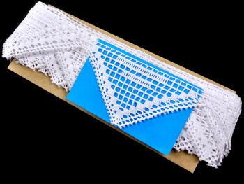 Paličkovaná krajka vzor 75011 bílá | 30 m - 3