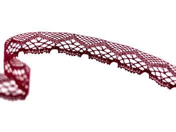 Cotton bobbin lace 75019, width31mm, violet - 3