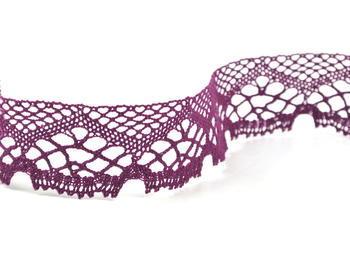 Paličkovaná krajka vzor 75019 fialová | 30 m - 3