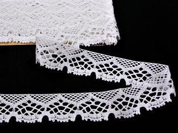 Paličkovaná krajka 75022 bavlněná, šířka45mm, bílá - 3