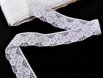 Paličkovaná krajka 75027 bavlněná, šířka40mm, bílá - 3