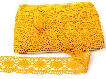 Paličkovaná krajka vzor 75032 tmavě žlutá | 30 m - 3